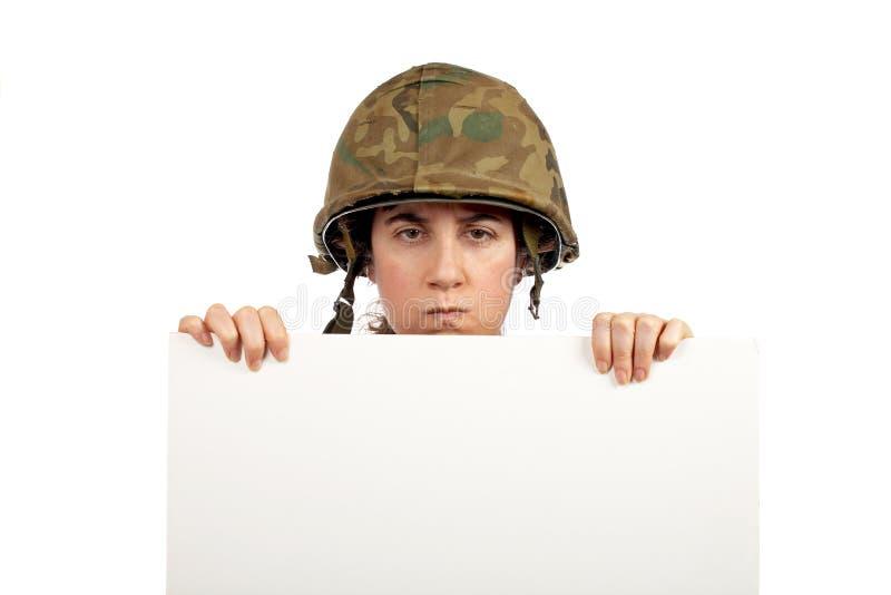 σοβαρός στρατιώτης κορι&tau στοκ φωτογραφία με δικαίωμα ελεύθερης χρήσης