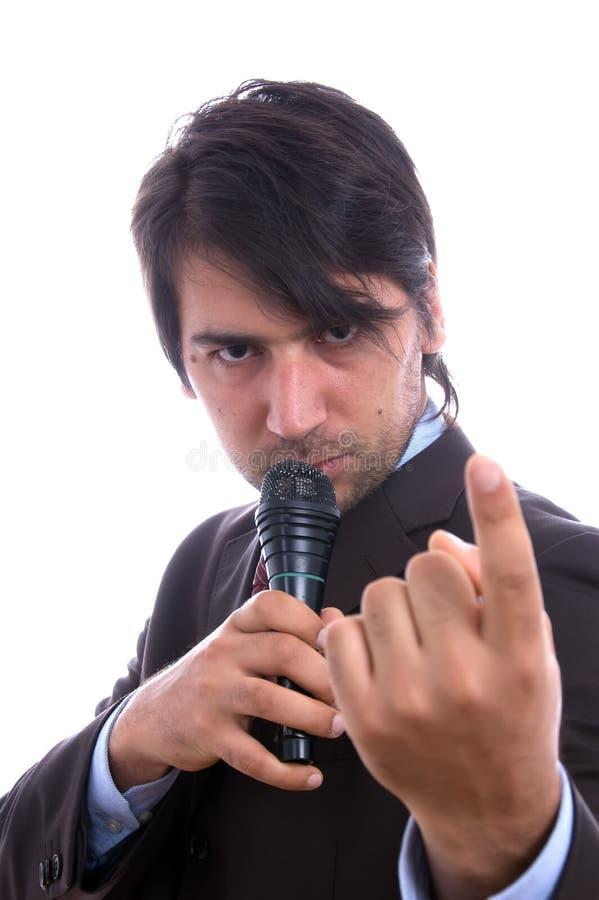 σοβαρός τραγουδιστής στοκ φωτογραφίες