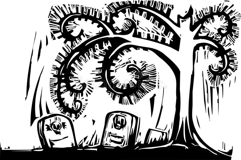 σοβαρό σπειροειδές δέντρ διανυσματική απεικόνιση