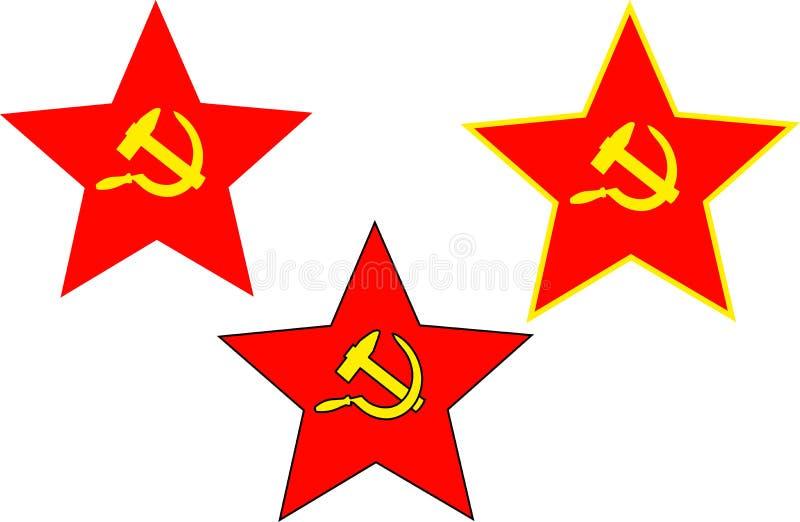 Σοβιετικά αστέρι, σφυρί και δρεπάνι απεικόνιση αποθεμάτων