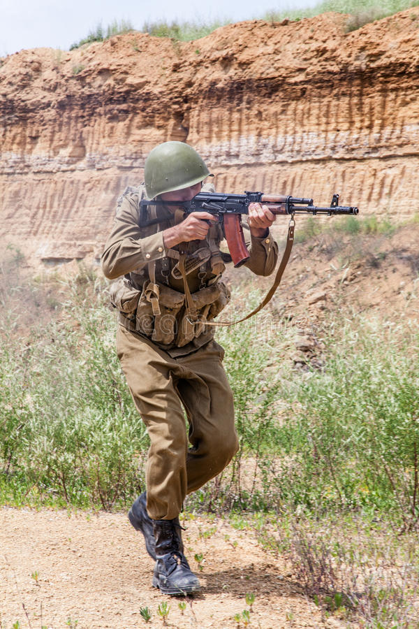 Σοβιετικός αλεξιπτωτιστής στο Αφγανιστάν στοκ εικόνες