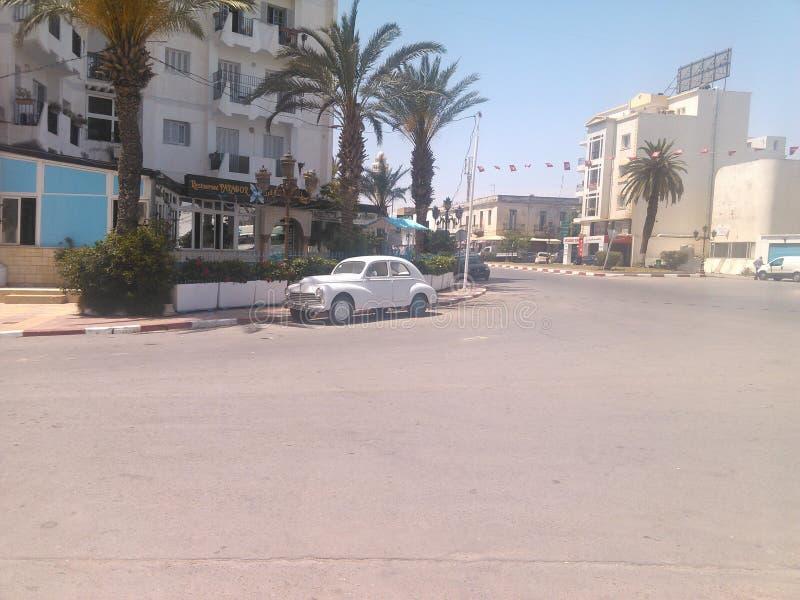 Σοβιετικό αυτοκίνητο στην Τυνησία στοκ φωτογραφία με δικαίωμα ελεύθερης χρήσης