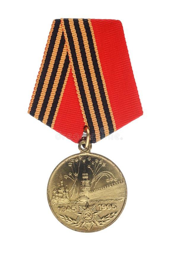 Σοβιετικό μετάλλιο ιωβηλαίου 50 έτη νίκης στο μεγάλο πατριωτικό πόλεμο στοκ φωτογραφία με δικαίωμα ελεύθερης χρήσης