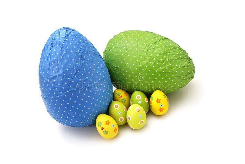 σοκολάτας Πάσχας αυγών που τυλίγονται μικροί στοκ φωτογραφία