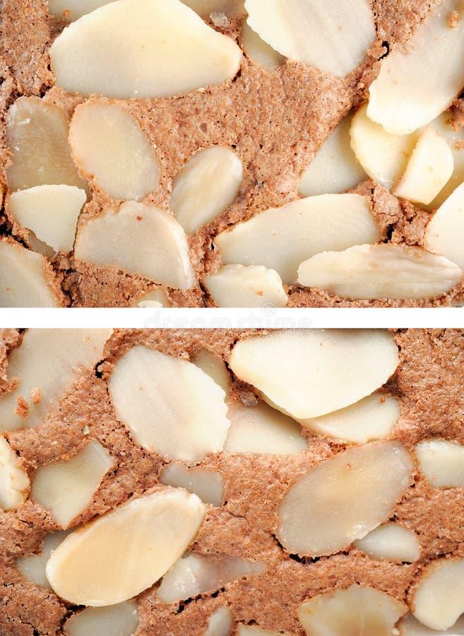 σοκολάτα κέικ αμυγδάλων στοκ εικόνες