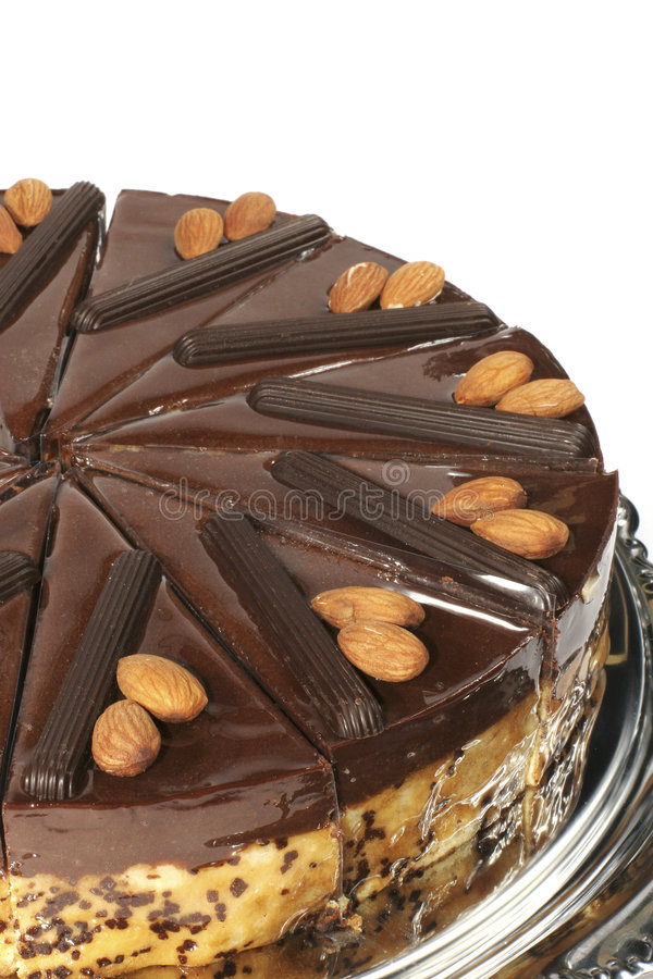 σοκολάτα κέικ αμυγδάλων στοκ φωτογραφία με δικαίωμα ελεύθερης χρήσης