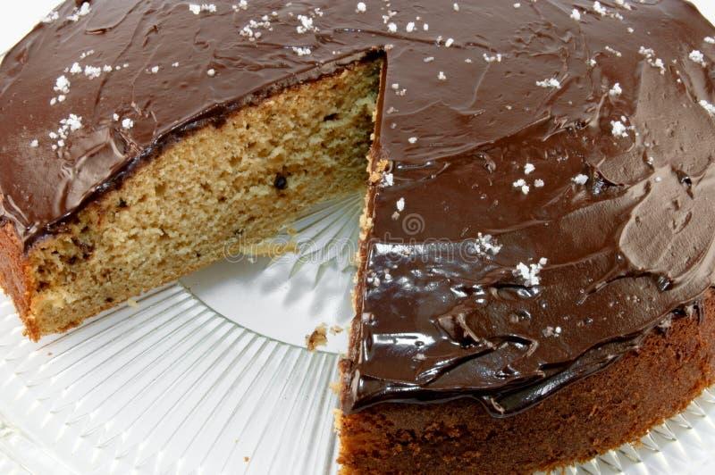 σοκολάτα κέικ ganache που αλα& στοκ εικόνες