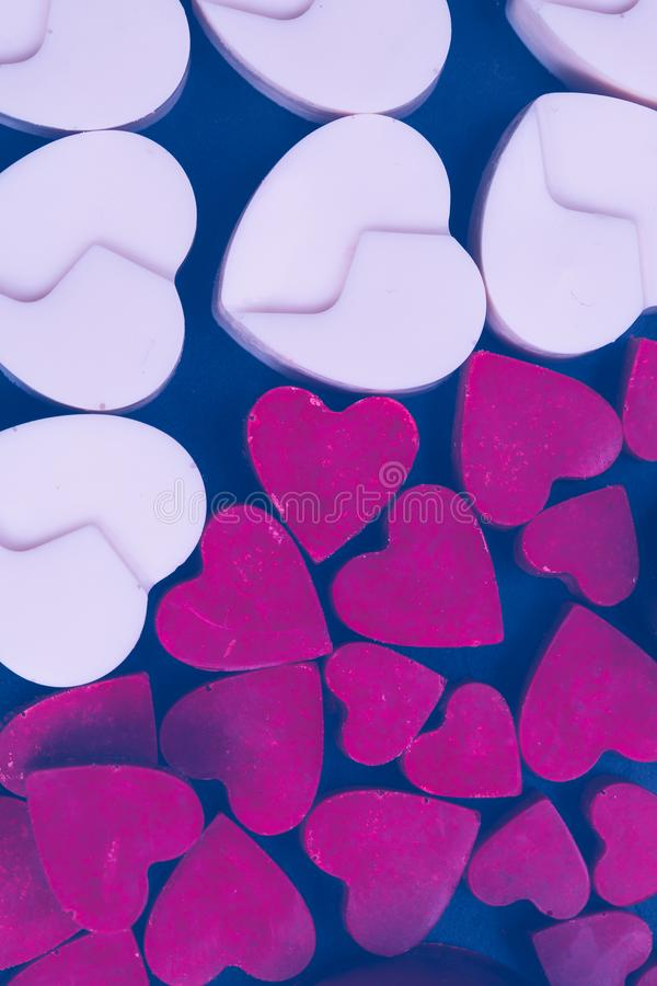 Σοκολάτα κιβωτίων δώρων καρδιών αγάπης βαλεντίνων στοκ εικόνα