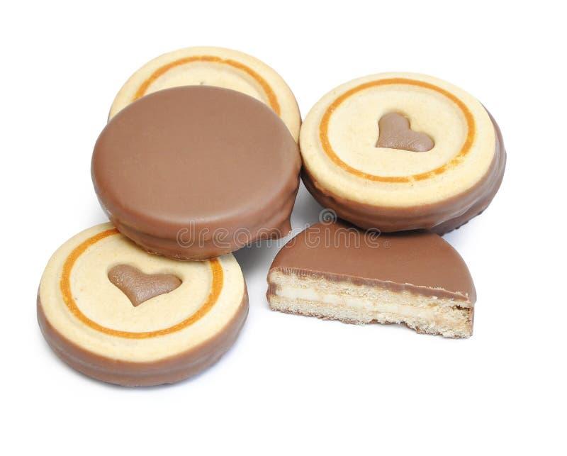 σοκολάτα μπισκότων στοκ φωτογραφία