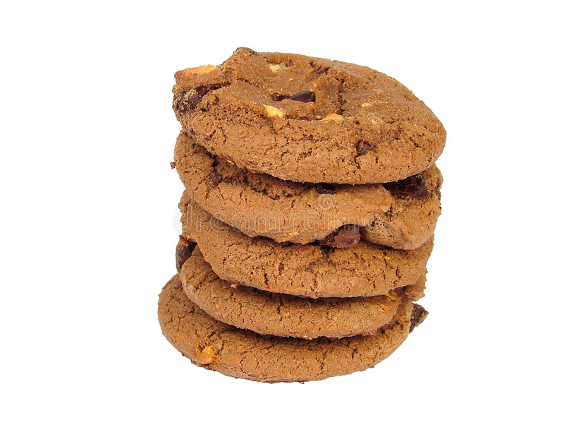σοκολάτα μπισκότων στοκ εικόνες