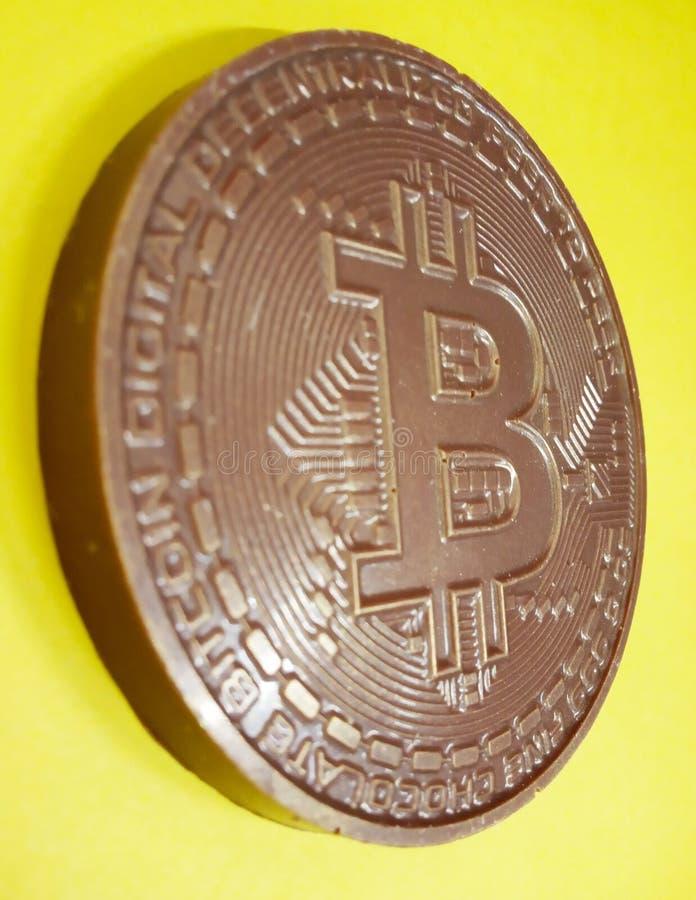 Σοκολάτα bitcoin, cryptocurrency, blockchain, γλυκός, εδώδιμο στοκ φωτογραφία με δικαίωμα ελεύθερης χρήσης