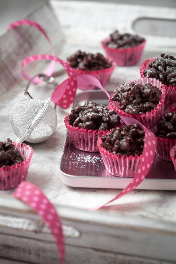 Σοκολάτα crispies στοκ φωτογραφία με δικαίωμα ελεύθερης χρήσης