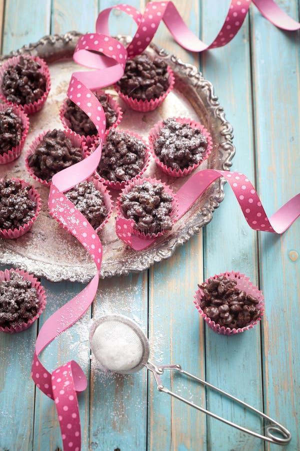 Σοκολάτα crispies στοκ φωτογραφίες