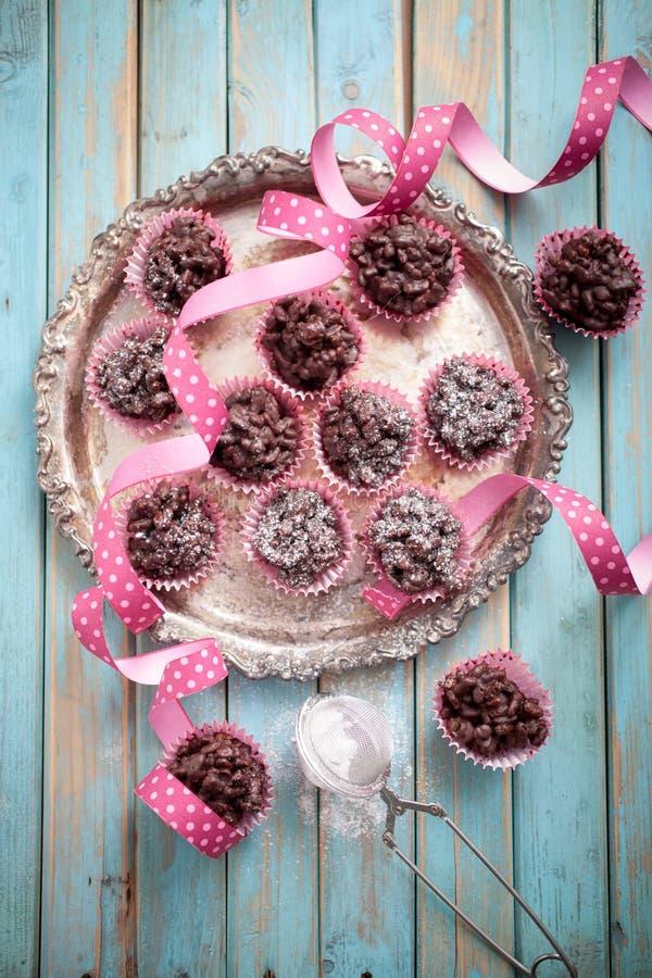 Σοκολάτα crispies στοκ φωτογραφία