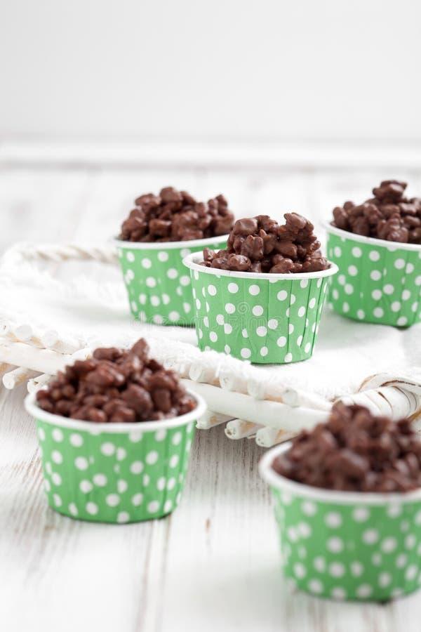 Σοκολάτα crispies στοκ εικόνα