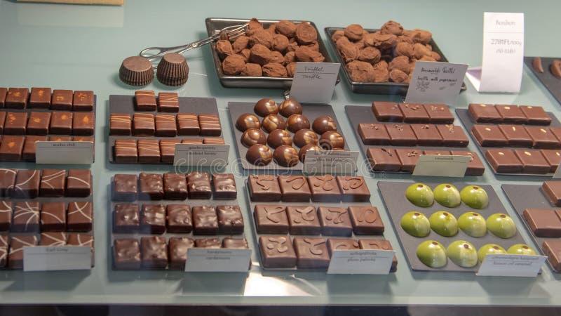 Σοκολάτα Csokolade Roszavolgyi manufactory, Βουδαπέστη, Ουγγαρία στοκ εικόνες με δικαίωμα ελεύθερης χρήσης