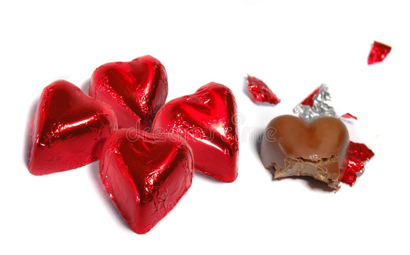 Σοκολάτες καρδιών στοκ φωτογραφίες