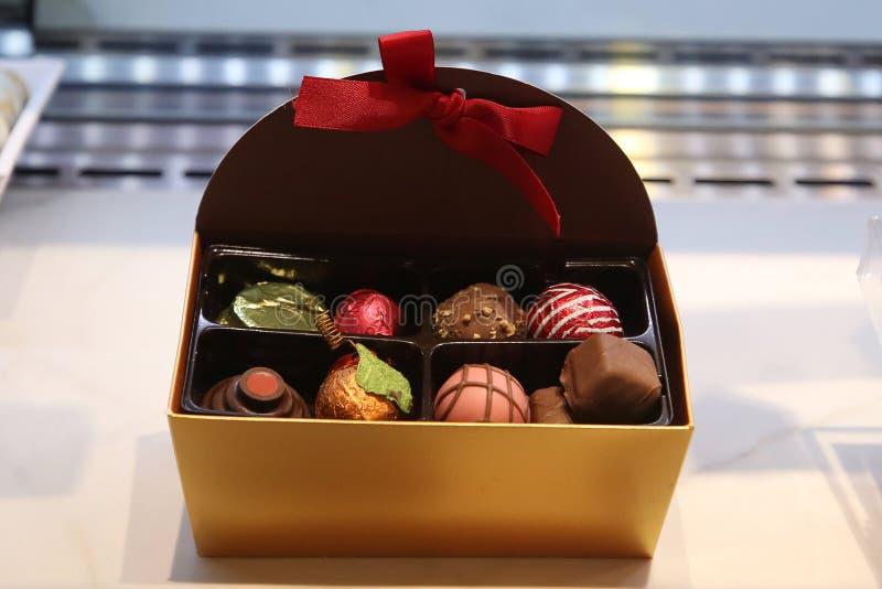 σοκολάτες κιβωτίων ανοικτές στοκ φωτογραφίες με δικαίωμα ελεύθερης χρήσης
