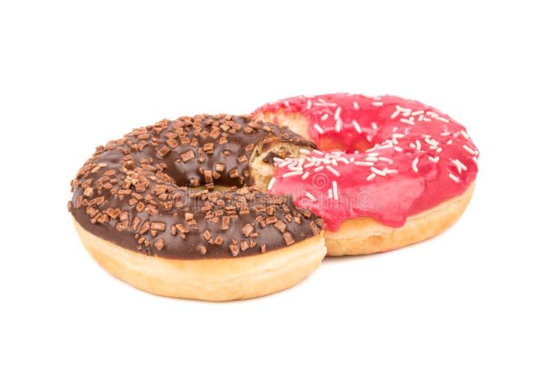 Σοκολάτα και ρόδινο doughnut στοκ φωτογραφίες με δικαίωμα ελεύθερης χρήσης