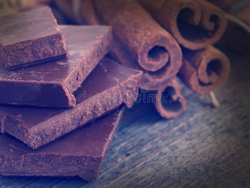 Σοκολάτα με την κανέλα στοκ φωτογραφία με δικαίωμα ελεύθερης χρήσης