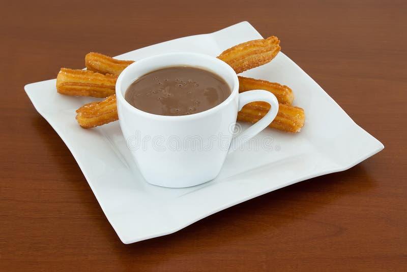 Σοκολάτα με Churros στοκ εικόνες
