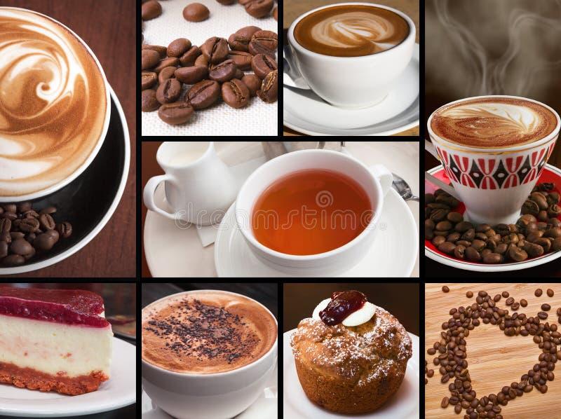 Σοκολάτα τσαγιού καφέ στοκ εικόνα