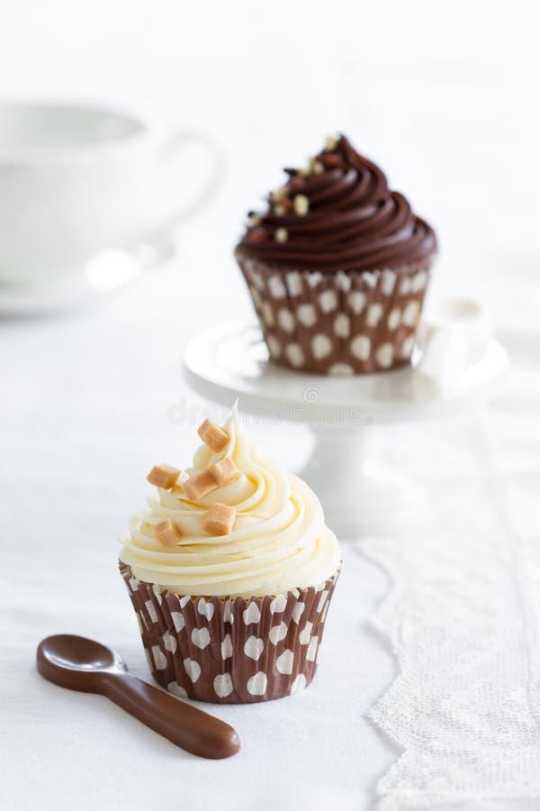Σοκολάτα cupcakes στοκ εικόνες