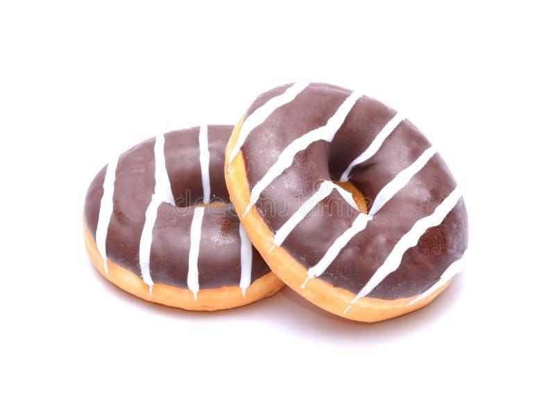 Σοκολάτα Donuts στοκ εικόνα με δικαίωμα ελεύθερης χρήσης