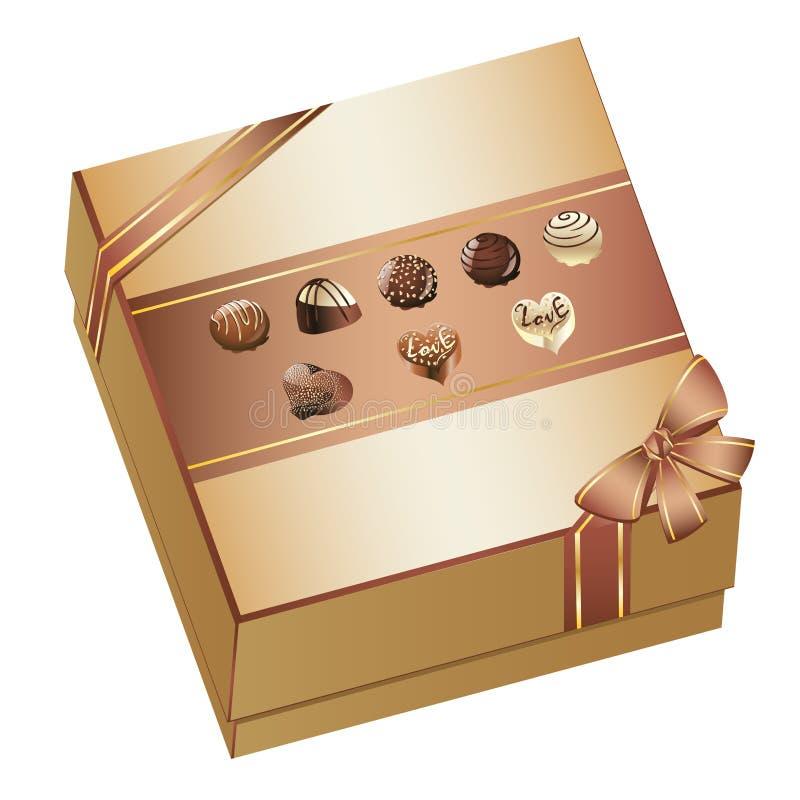 σοκολάτες κιβωτίων απεικόνιση αποθεμάτων