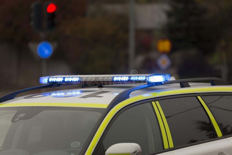 Σουηδικά φω'τα περιπολικών της Αστυνομίας στοκ εικόνες με δικαίωμα ελεύθερης χρήσης