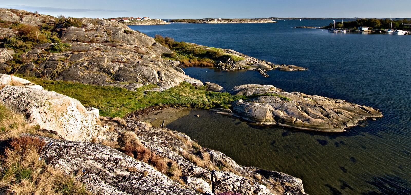 Σουηδική ακτή στοκ εικόνες