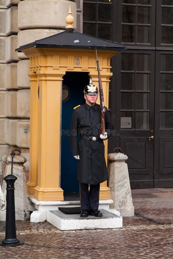 Σουηδική βασιλική φρουρά στοκ φωτογραφία με δικαίωμα ελεύθερης χρήσης