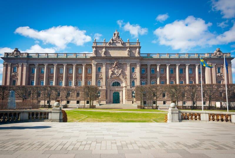 Σουηδική πρόσοψη σπιτιών του Κοινοβουλίου στοκ φωτογραφία με δικαίωμα ελεύθερης χρήσης