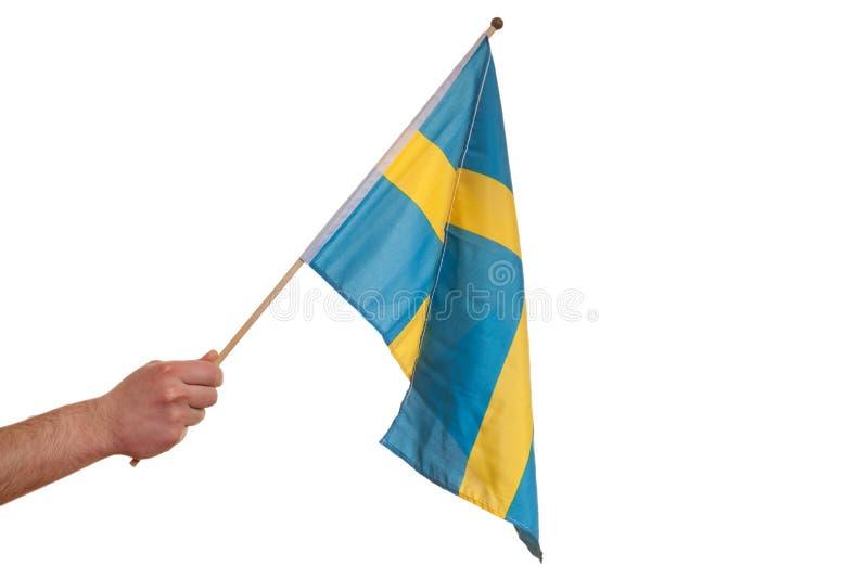 Σουηδική σημαία. στοκ εικόνες με δικαίωμα ελεύθερης χρήσης
