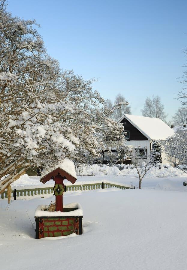 σουηδικός χειμώνας κήπων & στοκ εικόνες