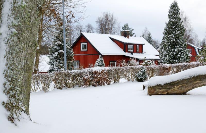 Σουηδικό χειμερινό χαρακτηριστικό τοπίο στοκ φωτογραφίες