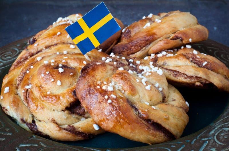 Σουηδικά κουλούρια κανέλας στοκ φωτογραφία με δικαίωμα ελεύθερης χρήσης