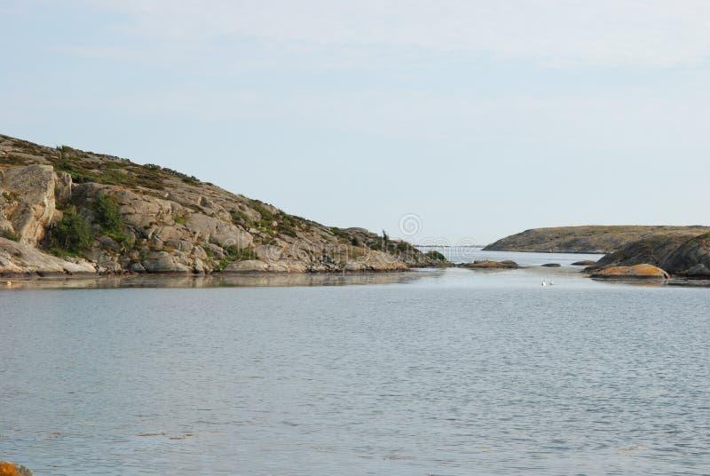 Σουηδική δυτική ακτή στοκ εικόνα