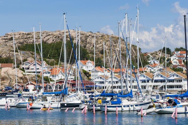 Σουηδική δυτική ακτή Hunnebostrand Guestharbour στοκ φωτογραφίες με δικαίωμα ελεύθερης χρήσης