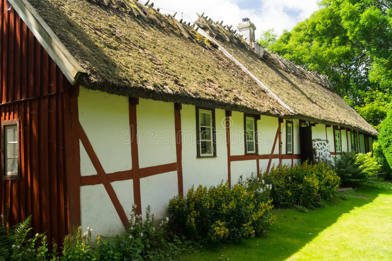 Σουηδικό αγροτικό σπίτι στοκ φωτογραφίες με δικαίωμα ελεύθερης χρήσης