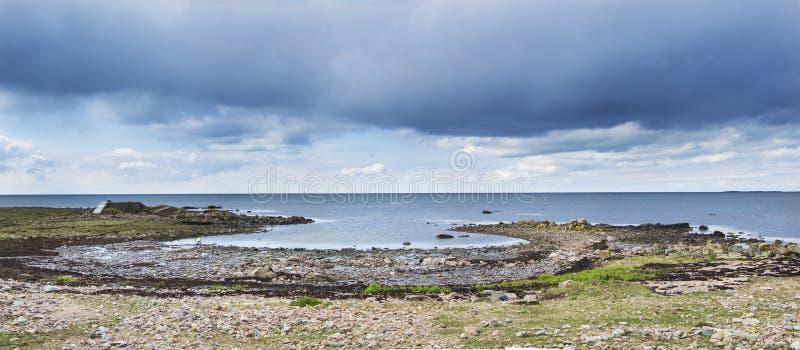 Σουηδικό αρχιπέλαγος βραδιού Torekov δραματικό στοκ εικόνες με δικαίωμα ελεύθερης χρήσης
