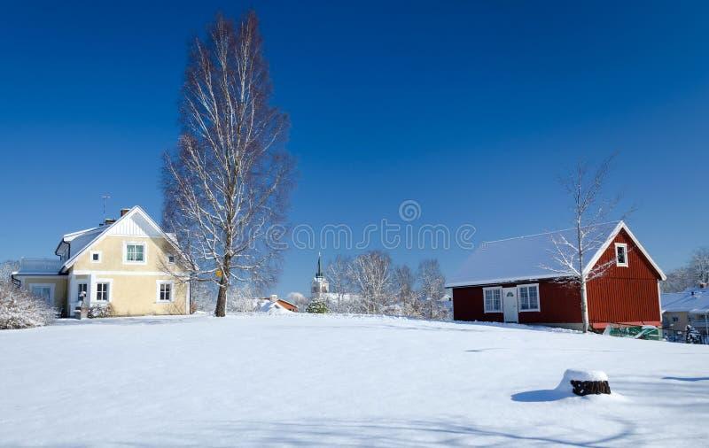 Χειμώνας στη Σουηδία στοκ φωτογραφία με δικαίωμα ελεύθερης χρήσης