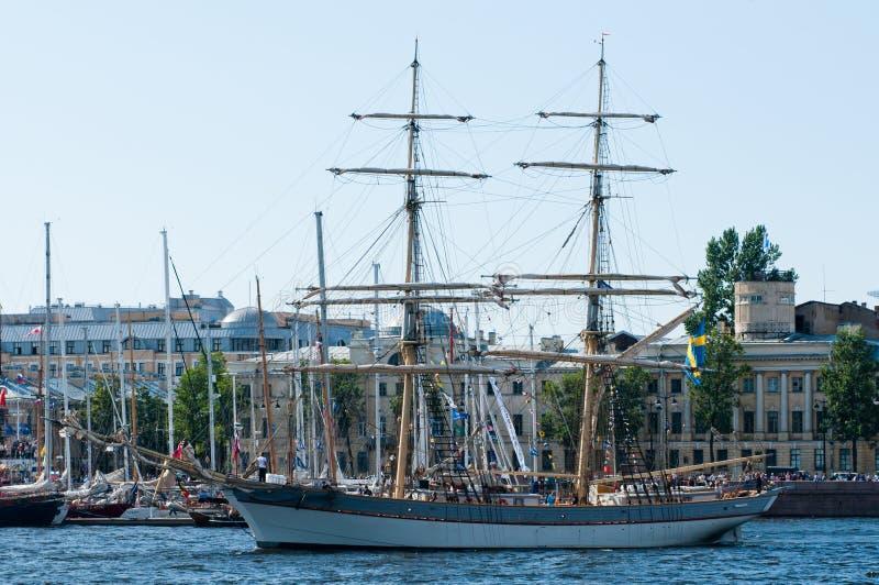 Σουηδικό brig σε ένα λιμάνι στοκ φωτογραφίες