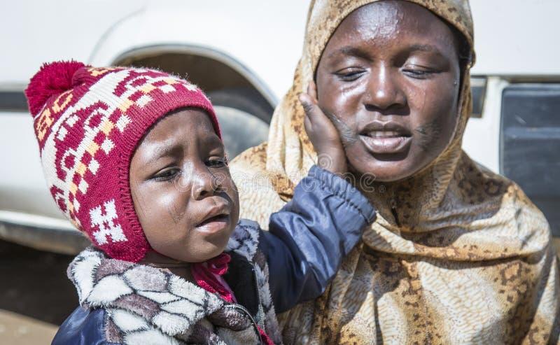 Σουδανέζικα γυναίκα και παιδί στοκ φωτογραφίες