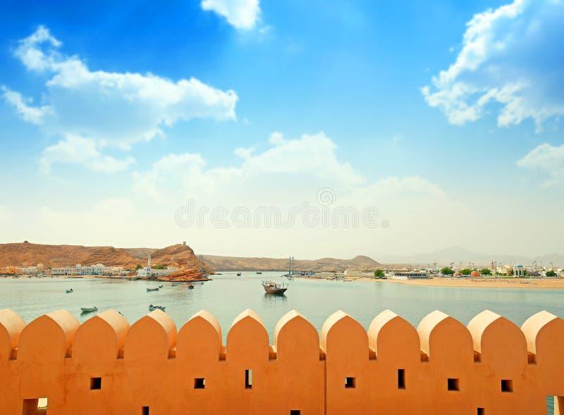 Σουλτανάτο του Ομάν, ο λιμένας Sur στοκ εικόνα με δικαίωμα ελεύθερης χρήσης