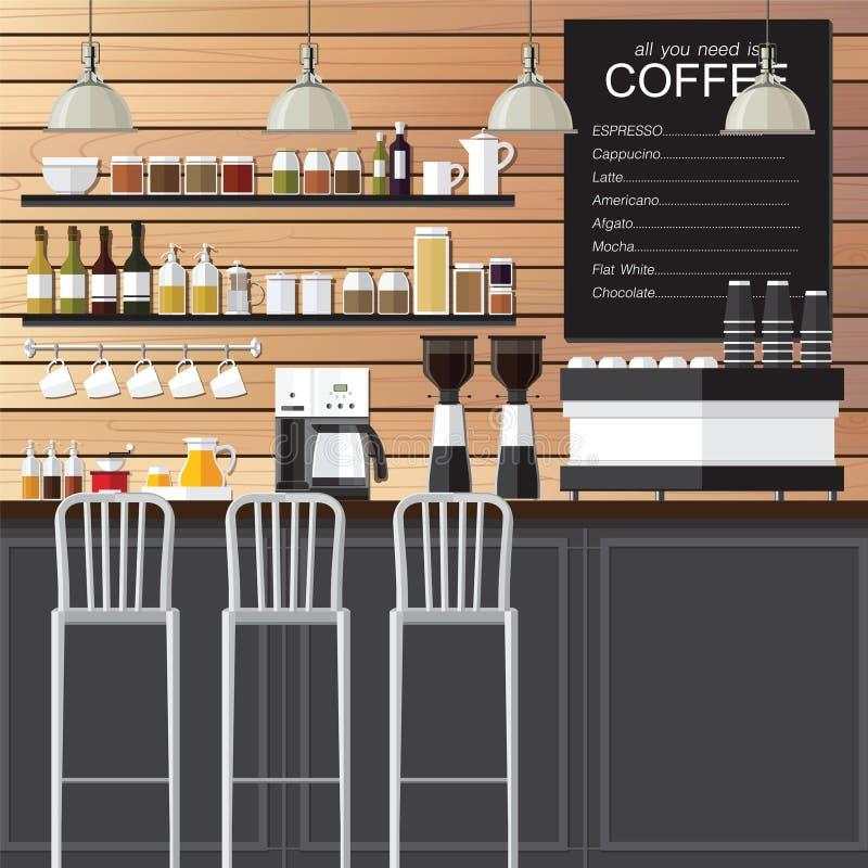 Σοφίτα σχεδίου καφετεριών ελεύθερη απεικόνιση δικαιώματος