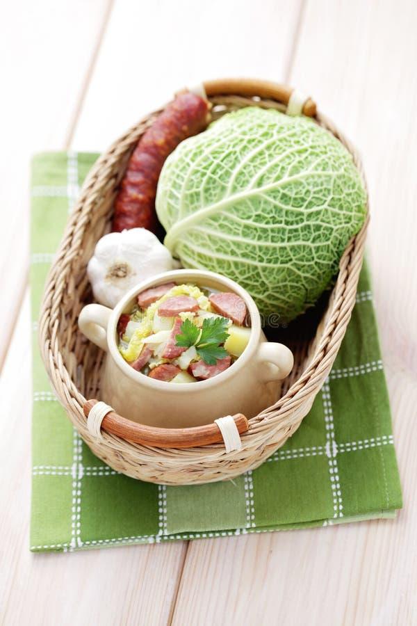Σούπα λάχανων στοκ εικόνα με δικαίωμα ελεύθερης χρήσης