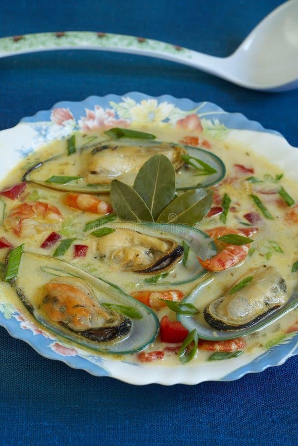 Σούπα θαλασσινών στοκ φωτογραφία με δικαίωμα ελεύθερης χρήσης