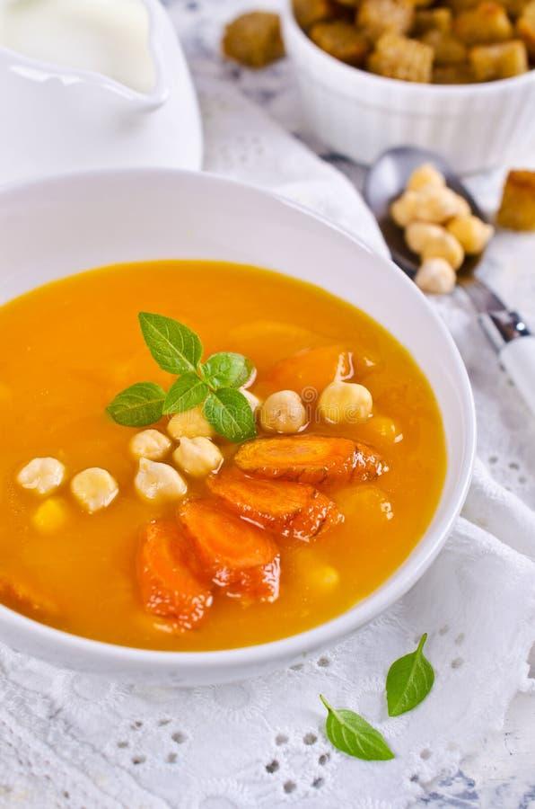 Σούπα κολοκύθας και καρότων στοκ φωτογραφίες με δικαίωμα ελεύθερης χρήσης