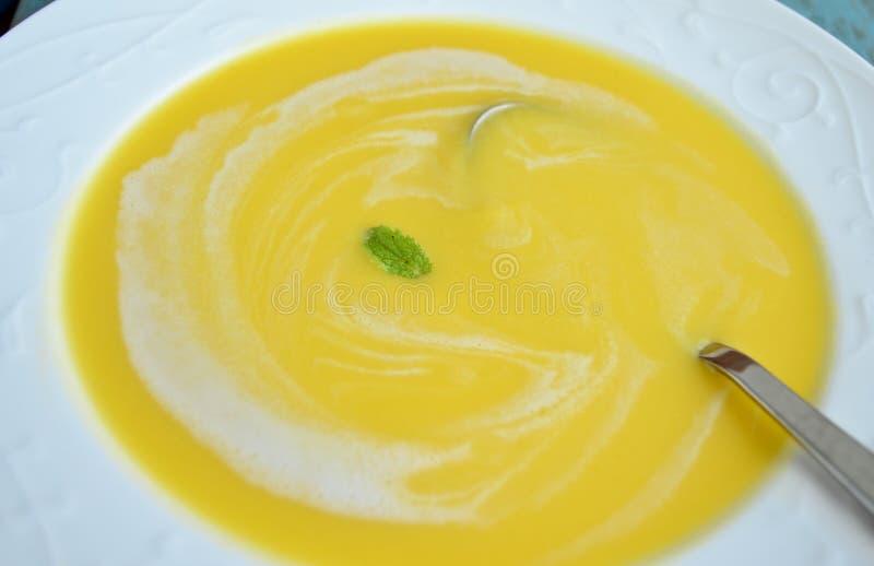 Σούπα κολοκύθας στοκ φωτογραφίες